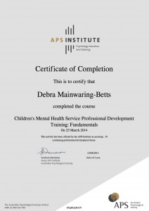 Childrens_Mental_Health_Service_Professional_Development_Training_Fundamentals_completion_certificate